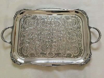 Viners Of Sheffield Alpha Plate Silver Tray
