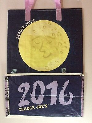 Trader Joe's 2016 Moon Reusable Bag Eco Tote Shopping NEW