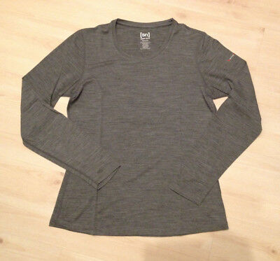 Merino Super.natural Base 140 Langarm Shirt Damen, Gr XL, grau