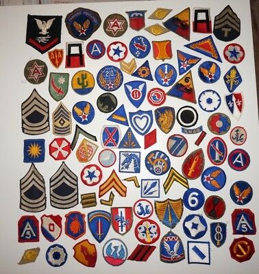 Large Lot Of WWII US Army Patches Lot #1