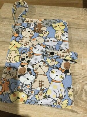 Baby Nappy Wallet, Such Cute Cats, Handmade, New