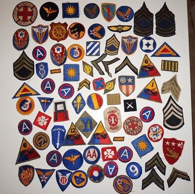 Large Lot Of WWII US Army Patches Lot #4