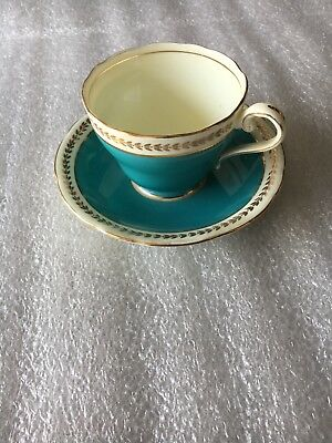 BIN REDUCED 40%!! OLD AYNSLY BONE CHINA ENGLAND TEA CUP AND SAUCER numbered 186