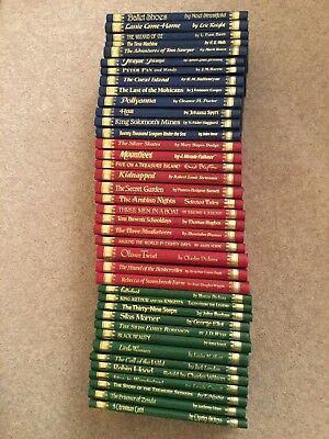 Set of 39 hardback classic books, famous authors, for young people, vg condition
