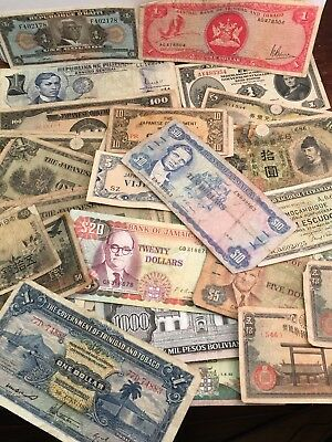 Large Lot Of Vintage World Foreign Paper Money