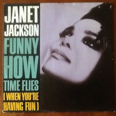 "Janet Jackson = Funny How Time Files ( When You""re Having Fun. Vinyl 12"" In Vgc."