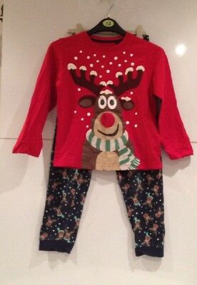 Christmas Pyjamas age 9 years boys girls reindeer BHS great pjs