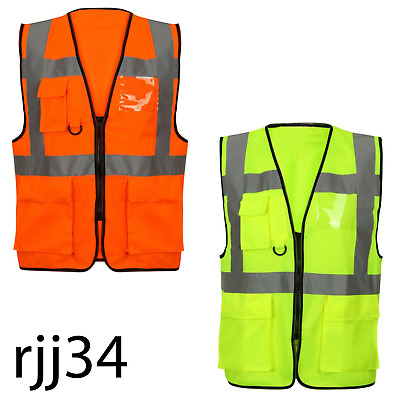 High Visibility Warning Vest with Pockets