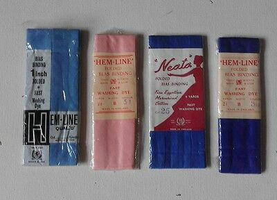 Retro Vintage 1960S 1970S Bias Hem Binding Cotton Craft Sewing Lot Wreath & Lion