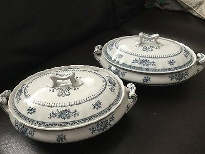 Losol Ware Keeling & Co 'Shrewsbury' Covered Serving Dishes X2