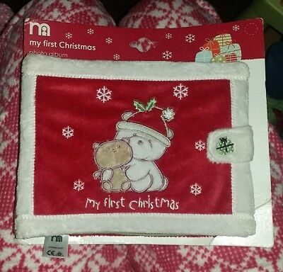 mothercare my first Christmas photo album