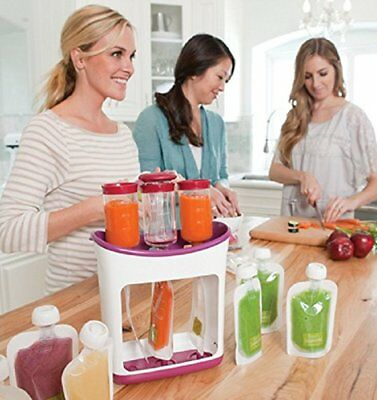 Infantino Fresh Squeezed Squeeze Station Baby Food Maker with feeding kit