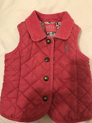 Joules Baby Girl Gilet 6-9 Months