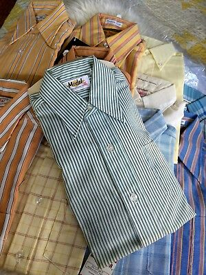 Vintage Brand New 1950's and 1960's Young Men's Button Down Shirts Sz 10 Neck 12