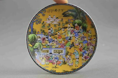 Collectable Handwork Decor Porcelain Paint Child Celebrate Festival Lucky Plates