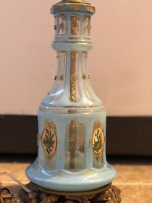 Antique Bohemian Glass for Persian Qajar Ottoman market Hookah base Lamp dated