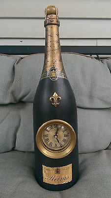 """Reims Champagne Clock Advertising Piece Large 18 3/4"""" Tall"""