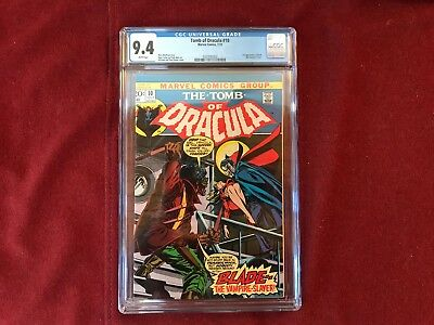 Tomb Of Dracula #10 CGC 9.4 WP 1st Appearance of Blade the Vampire Slayer Marvel