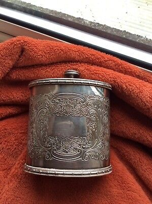 SUPERB ~ GEORGIAN Styled ~ Sheffield Plate SILVER Plated ~ Oval Tea CADDY