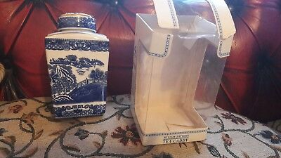Ringtons Willow Pattern Tea Caddy By Wade Ceramics
