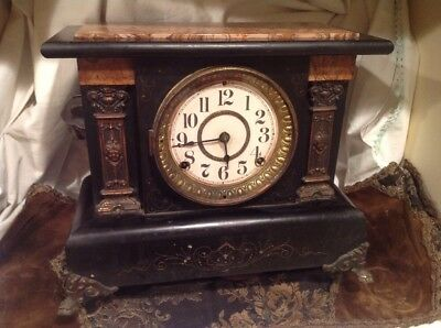 Antique Patented 1880 Seth Thomas Adamantine Mantel Clock