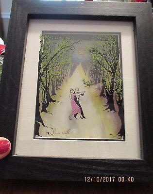 JEAN-PIERRE WEILL ''MOONLIGHT DANCE'' 3D Art Glass Framed Signed Wall Ready