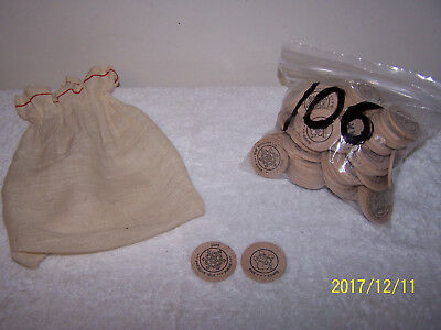 Lot Of 100+ Wooden Nickels Of Presque Isle,Maine Nickels SNOW MAN & SNOW FLAKE