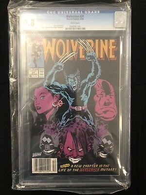 Wolverine #31 (1988 Series) White Pages CGC 9.8