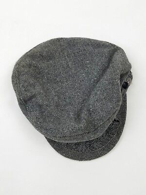 Aegean Greek Fisherman Cap Wool Sailor Hat Greece Gray Size 59 7 3/8 Vintage