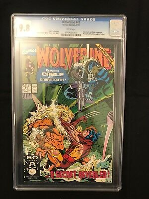 Wolverine # 41 (1988 Series) White Pages CGC 9.8