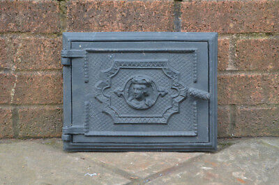 30.5 x 23.5 cm cast iron fire bread oven door/doors /flue/clay/range/pizza
