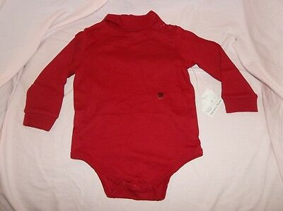NWT--Nursery Rhyme top size 18 mo--red, turtleneck, snaps closed, 100% cotton