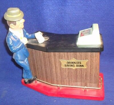 Windsor Drinkers Saving Bank Battery Operated Japan Coin Bank Bar  NOT WORKING