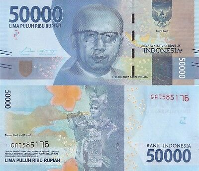 Indonesia 50000 Rupiah (2016) - New Series Issue/pNew UNC