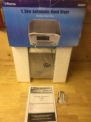 Eterna 2.5w Automatic Hand Dryer High Performance New Boxed