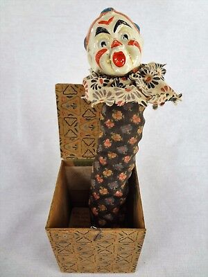 Late 19th Century – Early Antique Jack in the Box Toy – Vintage Clown