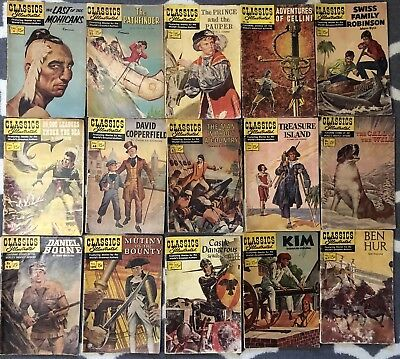CLASSICS ILLUSTRATED COMICS Lot of 15 #4-147 1st Editions Gold & Silver Age Rare