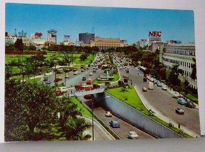 UNDERPASS OVERPASS COMPLEX Manila City Hall PHILIPPINES 4x6 Postcard 1950s