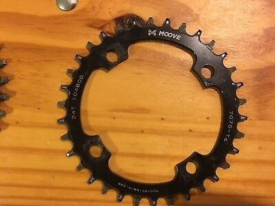 moove 34t chainring 104bcd narrow wide
