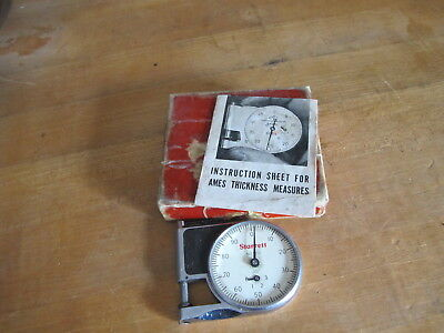 Starrett Company No.1010 Pocket Dial Thickness Gage Micrometer