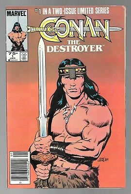 Conan the Destroyer #1 (Jan, 1985) Newsstand Edition Bob Camp Cover FN+ 6.5