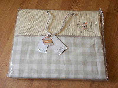 """mamas & papas lined tie top curtains ( murphy & me ) 52"""" x 63"""" new in bag"""