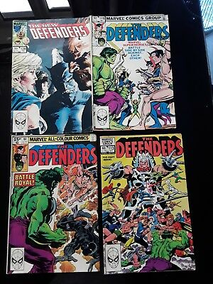 Marvel The Defenders comics x 4 , 1980 to 1984