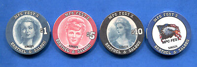 *** Mpc Fest X Brothel Tokens - Complete Set Of 4 - Serial #0033 Unc!***