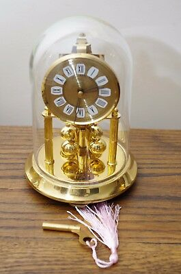 Kern Midget 400 Day Torsion Clock With Glass Dome
