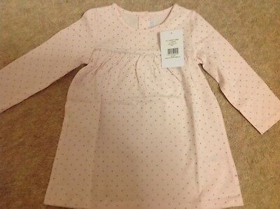 Little White Company pink sparkle girls dress 12-18 months