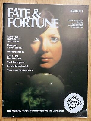 1970s FATE & FORTUNE magazine No.1 uk occult satanism witchcraft