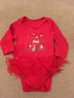 Marks And Spencer's Girls Christmas Outfit 0-3 Months