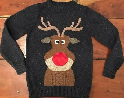 Boys Christmas Jumper. Reindeer. Next. Age 10.
