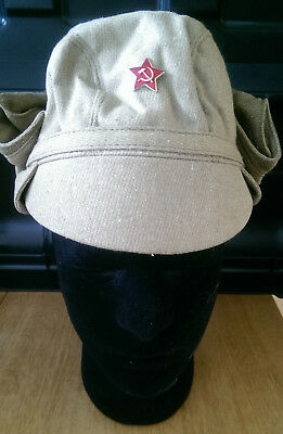 Soviet/Russian Army canvas cap size 58 with detachable face protection (coyote)